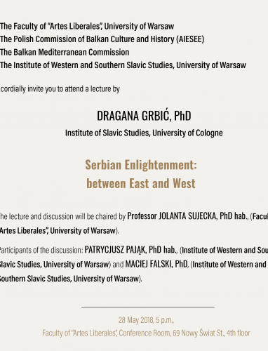 Serbian Enlightenment between East and West