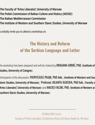 The History and Reform of the Serbian Language and Letter