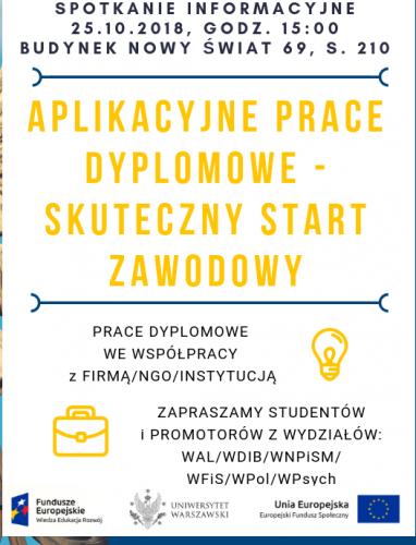 Aplikacyjne prace dyplomowe spotkanie 25.10.2018