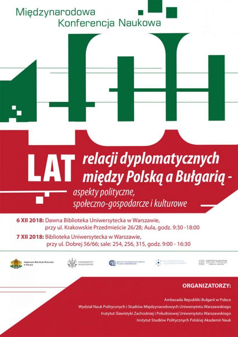 100 lat relacji dyplomatycznych między Polską a Bułgarią 6-7.12.2018